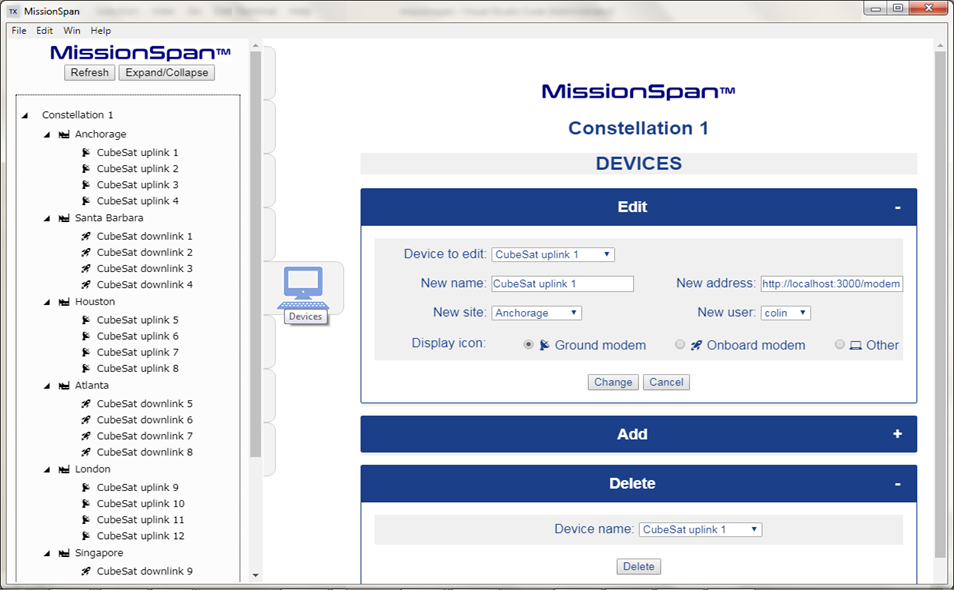 smallsat network management system by TXMission Inc